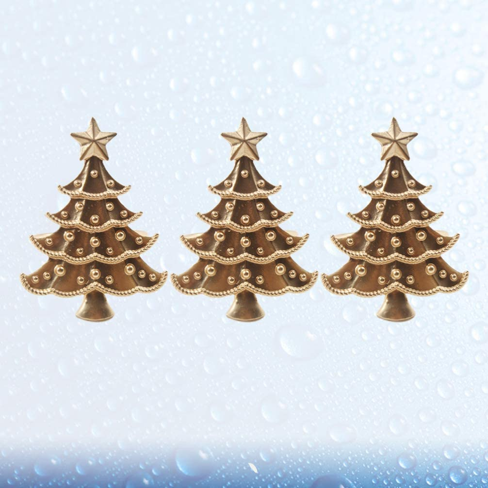 Dorado Holibanna 3pcs servilleteros Anillos de servilletas de /árbol de Navidad Hebillas para Fiesta en casa