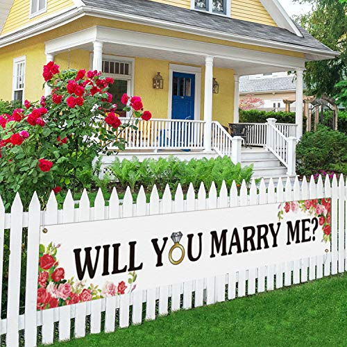 Will You Marry Me Large Banner, Proposal Banner, Engagement Lawn Sign Porch...