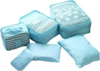 YASSUN Travel Waterproof Storage Bag sixPiece Luggage Storage Bag, Blue