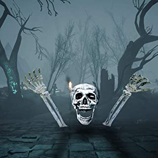 m·kvfa Hand Joints Human Skeleton Decoration Halloween Party Prop Decoration Ornament Creepy Props for Adult