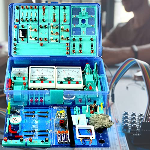 DBMGB Physik Baukasten Elektrobaukasten für Kinder, Elektronik Schaltungen Set, Physik Elektrizität und Magnetismus Experimente Kit mit 56 Arten von Zubehör, Intelligenz Entwickeln