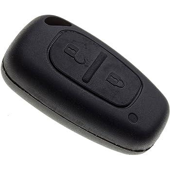 sans logo sans /électronique et sans transpondeur Chiavit Coque de cl/é auto//t/él/écommande /à 2 boutons sans lame Noir pour Renault Clio Megane Laguna Espace Kangoo Safrane Twingo Master Trafic Vivaro