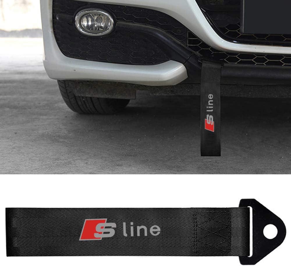 Abschleppschlaufe Abschlepp/öSe Mit Auto Logo Markierung Hochfeste Nylon Abschleppband ZGYAQOO Abschleppseile Tow Strap f/ür Audi SLINE Sline