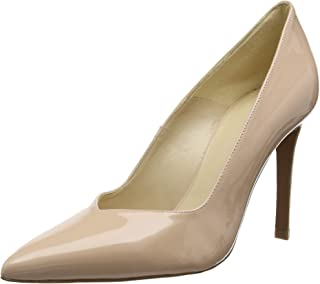 Karen Millen Womens Ella Rise Patent Leather Shoes in Nude.