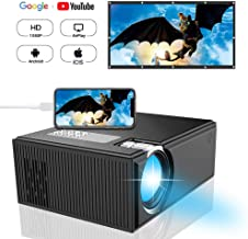 Projector, DIWUER Portable Video Projector, Mini Movie Projector for Home Cinema Theater, Support 1080P Full HD, HDMI, VGA, AV, USB, SD Card