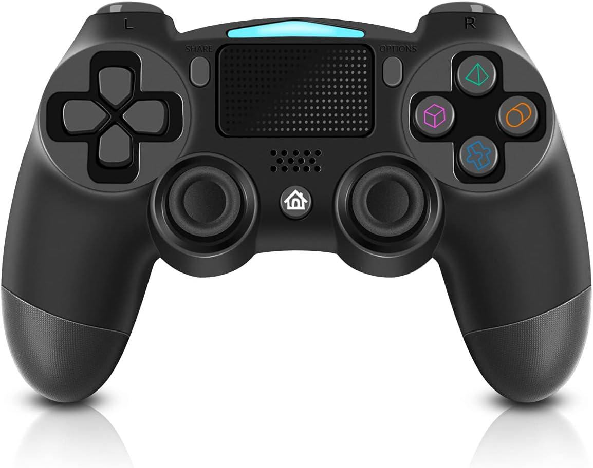 Mando para PS4, BLOOMERRY Controlador Inalámbrico para Playstation 4 Controlador de Juegos Compatible con PS4 Pro / PS4 Slim / PC con Double Shock Giroscopio, Panel Táctil y Conector de Audio de 3,5mm