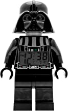 ClicTime Lego Star Wars 9002113 Darth Vader Kids Minifigure Light Up Alarm Clock   Black/Gray   Plastic   9.5 inches Tall   LCD Display   boy Girl   Official