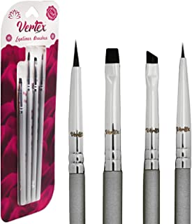 Vertex Beauty: Eyeliner Brush Set Makeup Brush Set - Designed By Expert Makeup Artists - Solid Non-Bleached Bristles - Creates Flawless Looks - Perfect Winged Liner
