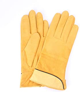 2019 Women Genuine SLeather Fleece Gloves Leather Gloves Female Lady Driving Leather Gloves