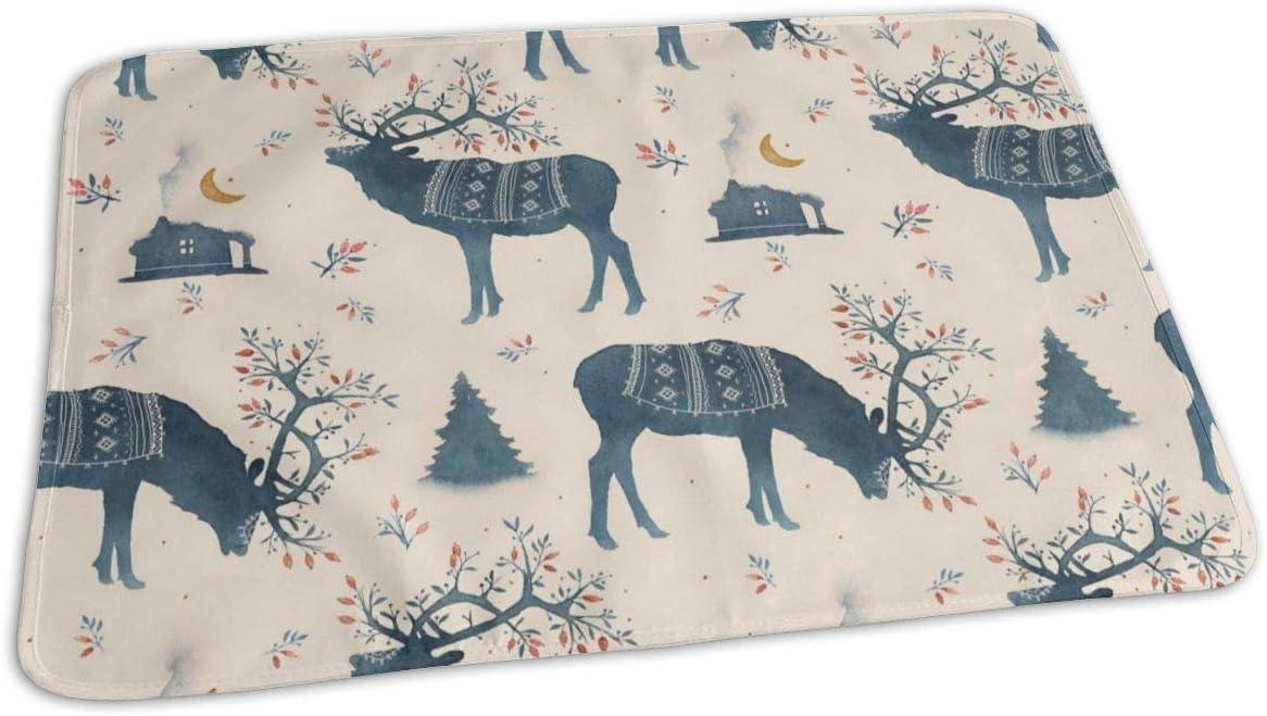 UAJAR Recommendation Scandinavian Reindeer Baby Reusable Pad Sale SALE% OFF Cover Por Changing