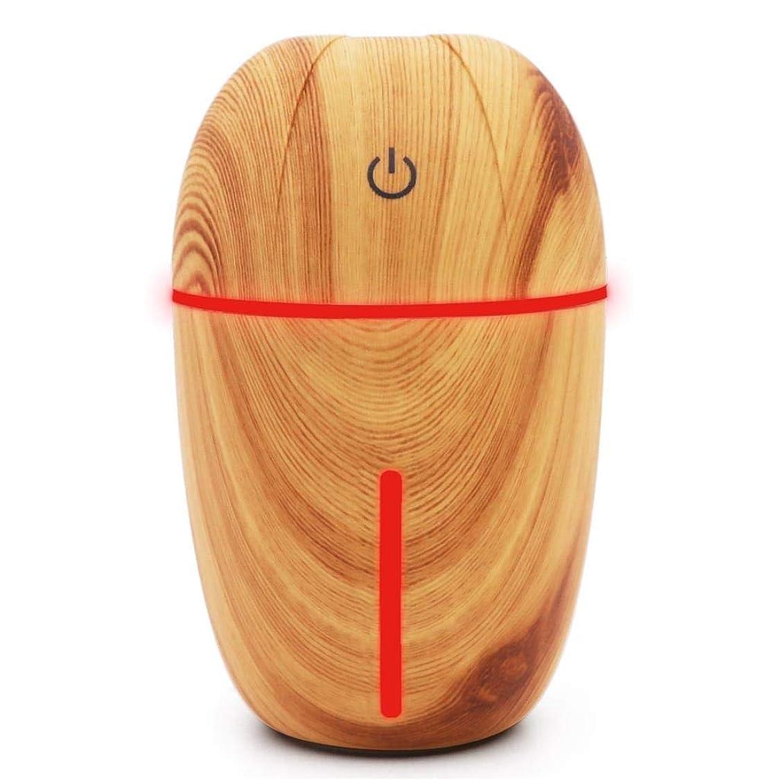 騒音30dB 以下 芳香 拡張器 清涼 薄霧 加湿器 ミスト アロマ フレグランス 癒し リラックス 調光 LED 寝室 (Color : Light wood grain)