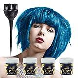 X4 La Riche Directions Semi-Permanent Conditioning Hair Colour 88ml - Lagoon Blue by La Riche Directions