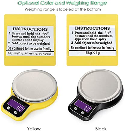 Docooler Kitchen Scale Food Scale Mini Electronic Platform Scale Digital Scale with Stainless Steel Platform Scale