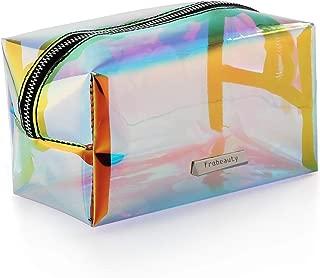Holographic Makeup Bag Iridescent Cosmetic Bag Hologram Clutch Large Toiletries Pouch Holographic Handy Makeup Pouch Wristlets Organizer Women Evening Bag
