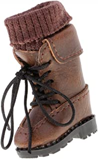 Dovewill Handmade PU Leather Lace up Martin Boots Shoes for 12'' Neo Blythe Pullip Doll - Brown