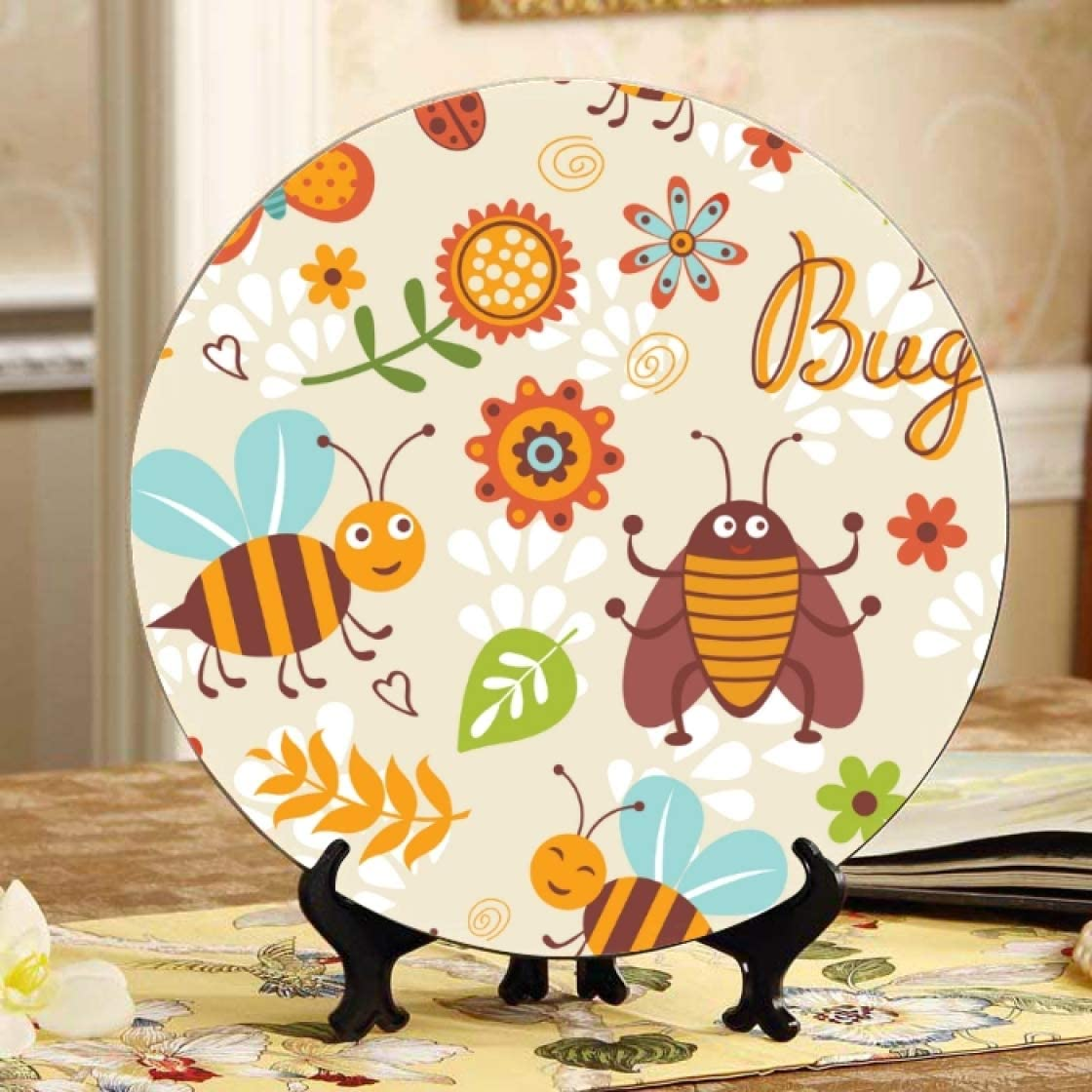 Lajro Honey Flower Heart Ranking TOP17 Bee Challenge the lowest price and Ceramic Plates Small Hive Wall