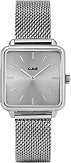 Women's Quartz Watch with Stainless Steel Strap, Silver, 16 (Model: CL60012)
