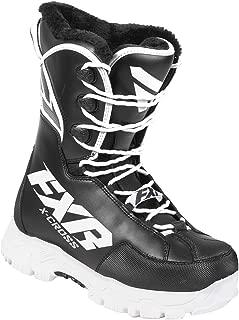 FXR Racing F19 X-Cross Speed Snowmobile Boots - Black/White (Mens 10/Womens 12)