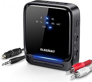 ELEGIANT Bluetooth 5.0-sändare, HD-ljud med låg latens 2-i-1 trådlös mottagare med optisk Toslink / SPDIF för TV-bärbara s...
