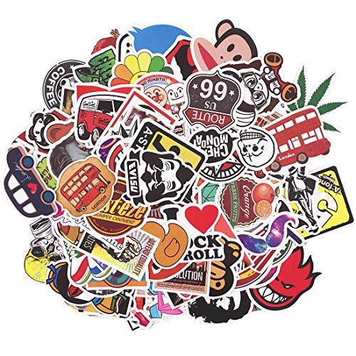YUESEN Neuleben Aufkleber Pack Trendy Sticker 100 Stück, Sticker Bomb Graffiti Sticker für Laptop, Kinder, Autos, Motorrad, Fahrrad, Skateboard Gepäck, Bumper Sticker Wasserdicht