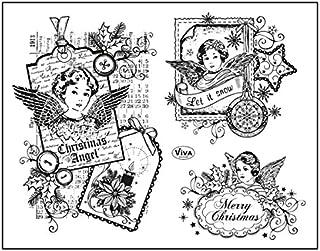 Weihnachten Serie Durchmesser: ca 30mm FITYLE Motivstempel Schneeflocke 4