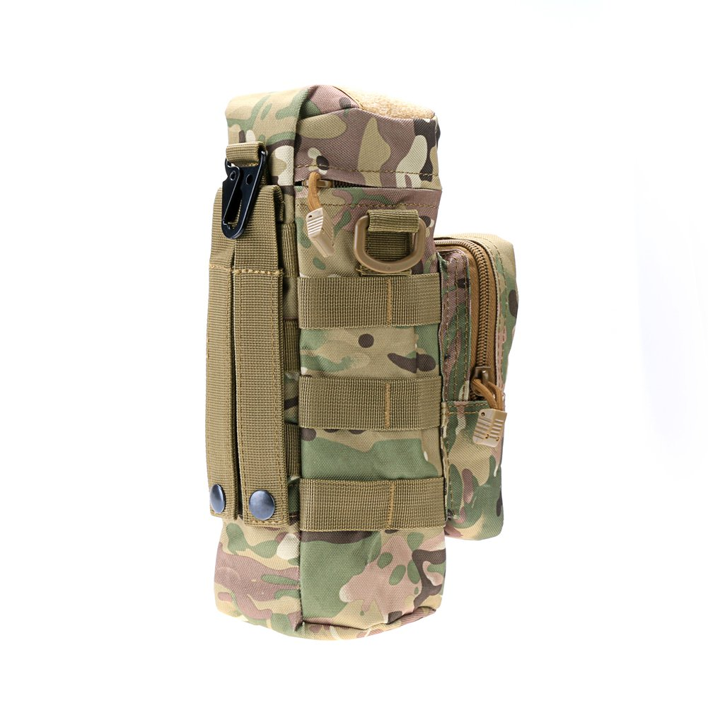Tactical Military Outdoor Water Bottle Bag Zipper Pouch Kettle Holder 6 Colors