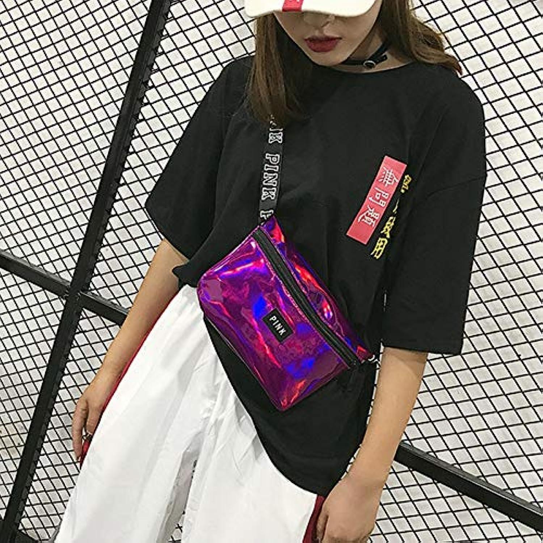 YKDY Bag 3 PCS Fashion Wild Sports Gym Bag Laser Translucent Reflective Chest Bag Sling Waist Bag Handbags Purse(Green) (color   Mulberry)