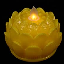 Minkissy 6Pcs Led Lotus Boeddhistische Verlichting Vlamloze Candle Light Lamp Battery Operated Bloem Altaar Lamp Voor Medi...