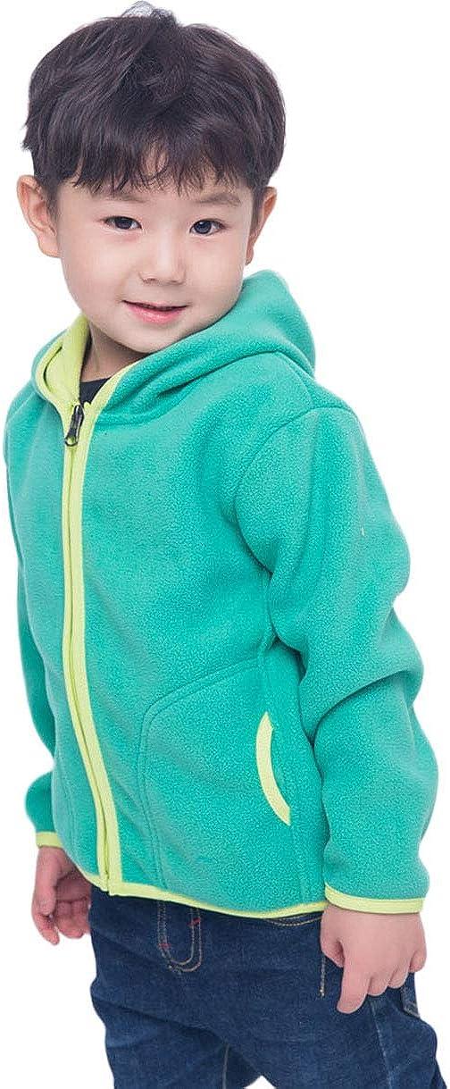 Direct store LANBAOSI Kids Girls Boys Hooded Full Jacket Fleece sale War Polar Zip