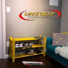Unique Furniture Solid Sheesham Wood Shoe Rack 3-Tier Shelf Rack   Solid Wooden Wood Folding Shoe Rack, Chappal Stand,Storage Rack,3- Shelf Rack Storage Bench for Living Room (Finish Yellow)