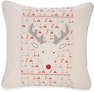 Mud Pie Reindeer Falala Christmas Linen Pillow Wrap