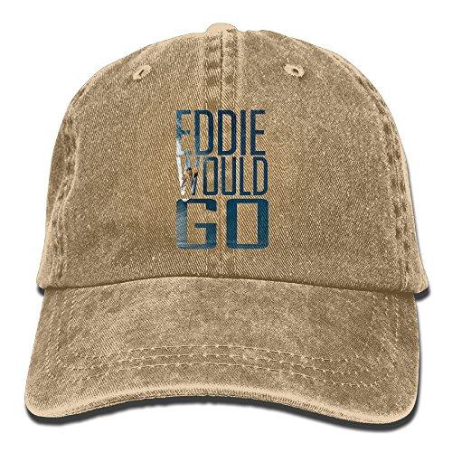 XZFQW Eddie Aikau Would Go Trend Printing Cowboy Hat Fashion Baseball Cap For Men and Women Natural