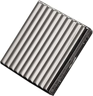 QIAOQ Metal Men's Cigarette Case Stainless Steel Portable Anti Pressure Cigarette Box,Silver,20sticks