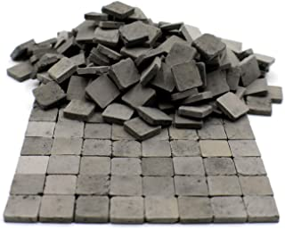 Sarina Crafts Clay Brick Pavement Stone Tiles for Dollhouse Models and Dioramas