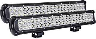 Nilight Light Bar 2PCS 20 Inch 126W LED Lights Spot Flood Combo Led Off Road Driving Lights Led Fog Lights Jeep Lights Boat Lighting LED Work Light ,2 Years Warranty