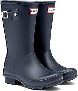 Official Brand Hunter Original Wellington Boots Childs Boys Navy Wellies Gum Boots Waterproof