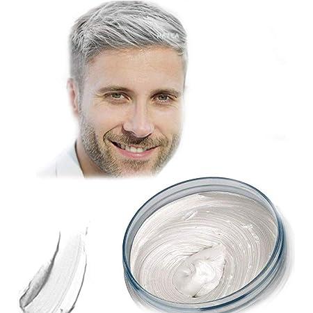 Cera del color del pelo, peinado mate natural para party.osplay, Halloween (Blanco)