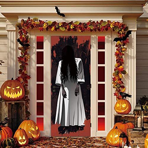 3D PVC Türaufkleber YJLMT Ghosts Waschraum Horror Aufkleber Scary Halloween Aufkleber Bar Wohnheim Schlafzimmer Fenster Tür Dekoration