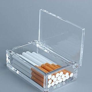 YZT Cigarette Holder 20 Packs, Cigarette Case, Transparent Portable Portable Light Cigarette Case (Color : Clear)