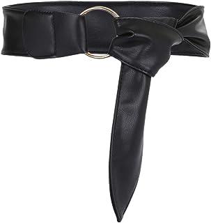 3c05b83377d8e0 KYEYGWO Damen Kleid Gürtel 6cm Breit, Verstellbarer PU-Leder Gürtel mit  Doppel Ringe Metallschnalle