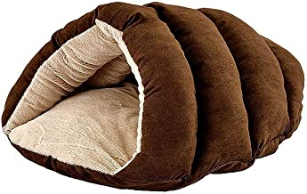 "SPOT Ethical Pets Sleep Zone Cuddle Cave - 22"" Chocolate - Pet Bed for Cats and Small Dogs - Attractive, Durable, Comfortable, Washable"