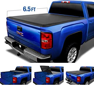 Tyger Auto Top T3 Soft Tri-Fold Truck Tonneau Cover for 2014-2019 Chevy GMC 1500 2015-2018 Silverado Sierra 2500 3500 HD | Fleetside 6.5 Bed Without Utility Track | TG-BC3C1007