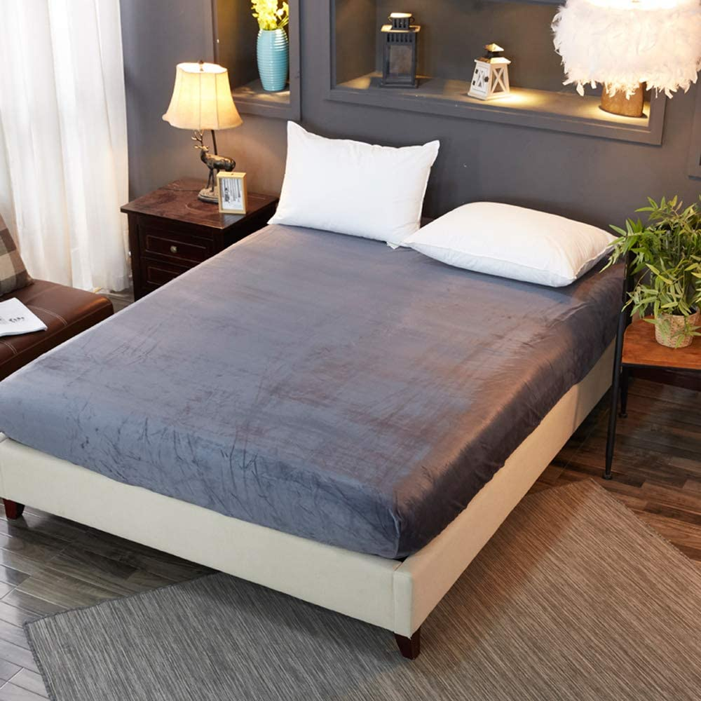 Pangzi Solid cheap Flannel Plush Bedding Ranking TOP4 Fitted Sheet Soft Velvety Hea