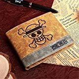 NUANDI Anime Wallet One Piece Carteras De Juegos Cosplay School Students Money Bag Titular De La Tarjeta Bifold Monedero para