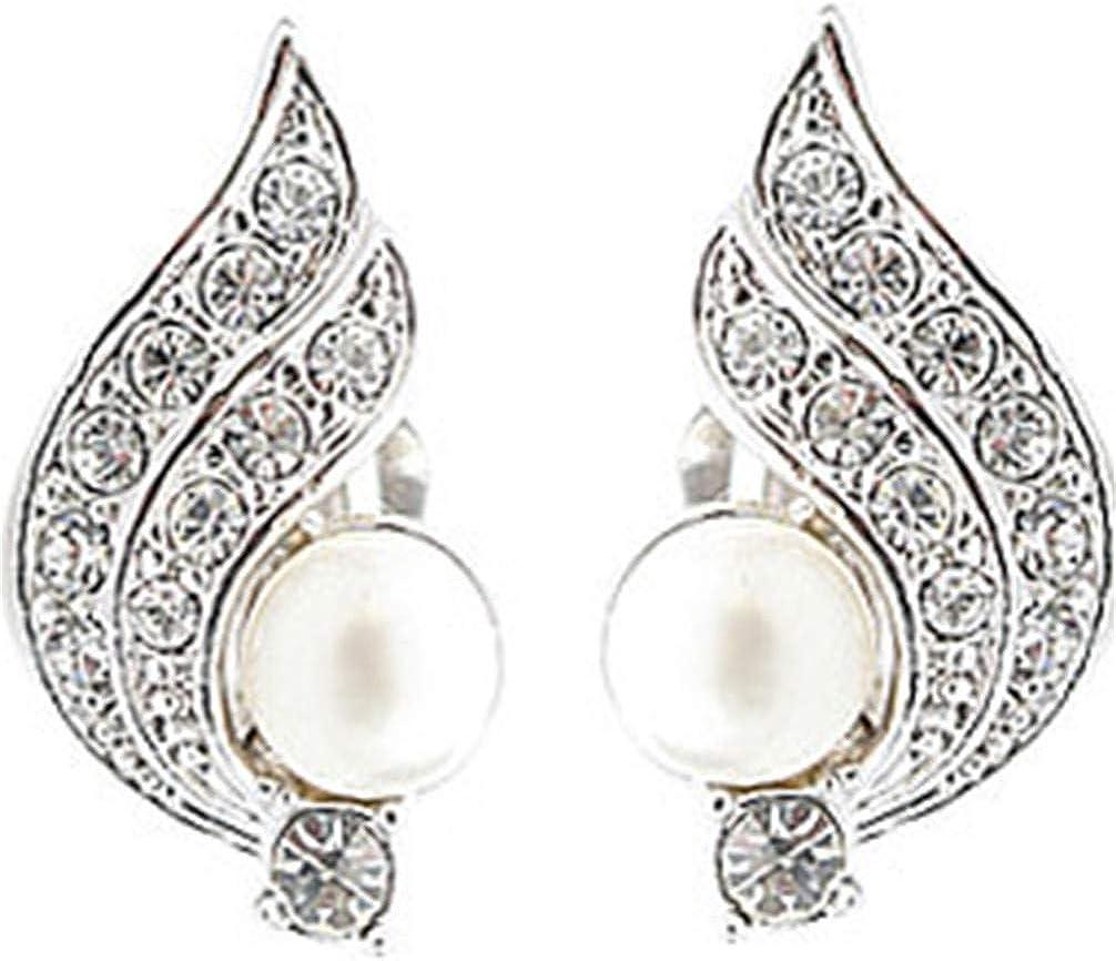 Toporchid Angel Wings Pearl Ear Clips Women Charm Earring Party Jewelry