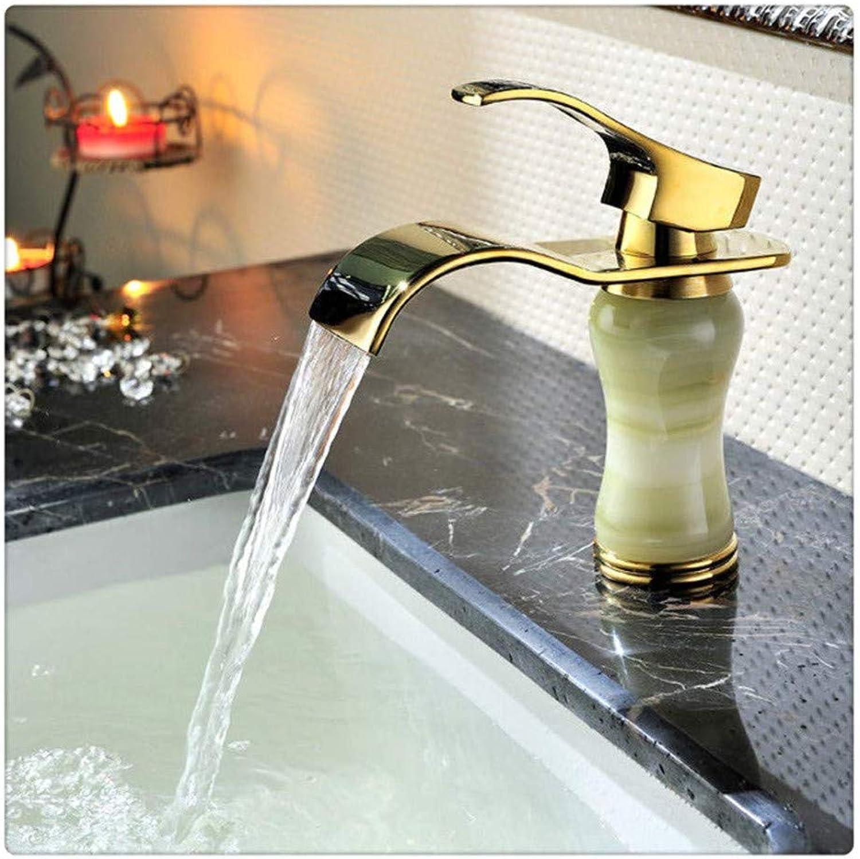 Wasserhahnwaschtischarmaturen Messing Jade Einhand-Waschtischarmatur Waschtisch Waschbecken Wasserhahn