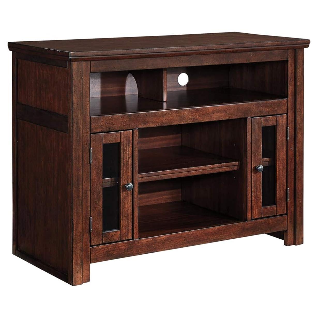 優越冷蔵する伝染性のAshley家具署名デザインでテレビスタンド?–?42?–?Harpan?–?Traditionalスタイル?–?ブラウン