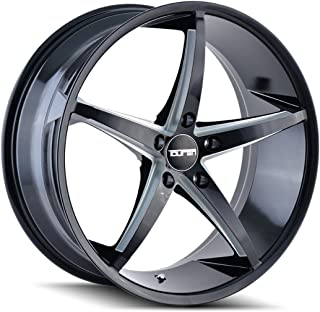 TOUREN TR70 Wheel with Black/Milled Spokes (17 x 7.5 inches /5 x 72 mm, 40 mm Offset
