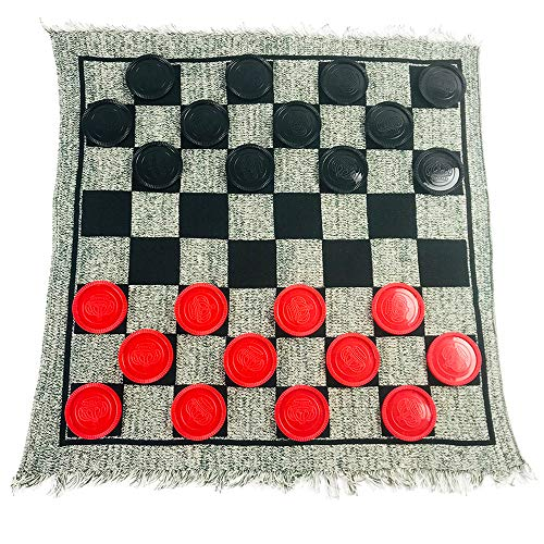 Yuanhe 3 in 1 Giant Checkers Set and Tic...