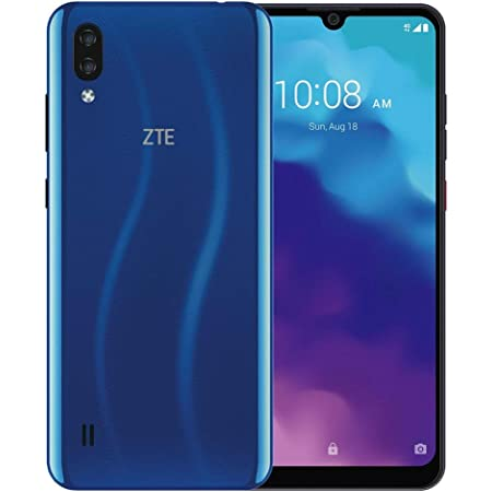 "ZTE Blade A5 2020 (32GB, 2GB) 6.09"" HD Edge to Edge Display, 3200mAh Battery, Dual SIM GSM Unlocked US 4G LTE (T-Mobile, AT&T, Metro, Straight Talk) International Model (Blue)"